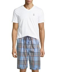 Psycho Bunny - Men's V-neck & Shorts Lounge Set - Lyst