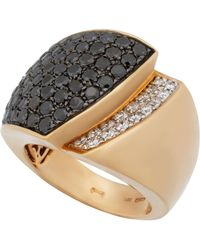 Chimento - 18k Rose Gold Tapered 2-tone Diamond Ring - Lyst