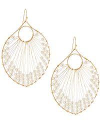 Panacea - Pearly Beaded Wire Drop Earrings - Lyst