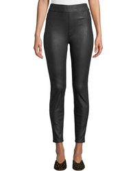 7 For All Mankind - Napa Leather-like Ponte Comfort Skinny Jeans - Lyst