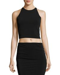 Alice + Olivia - Theodora Fitted Lace-back Crop Top - Lyst