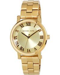 MICHAEL Michael Kors - 38mm Yellow-golden Stainless Steel Watch - Lyst