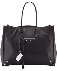 Balenciaga - Papier A4 Zip Leather Tote Bag - Lyst