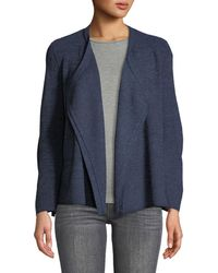 Love Scarlett - Ribbed Open-front Cardigan With Side Ties - Lyst