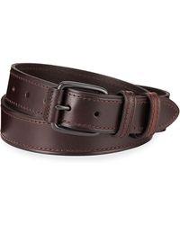 Neiman Marcus Double-loop Leather Belt