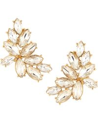 Lydell NYC - Golden Crystal Statement Stud Earrings - Lyst