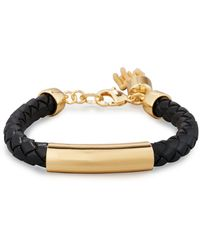 Lydell NYC - Woven Leather Tassel Bracelet - Lyst