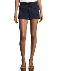 Romeo and Juliet Couture - Lace-up Shorts - Lyst
