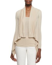 Pink Pony - Cashmere-blend Square Draped-front Cardigan - Lyst