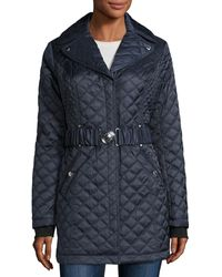 Laundry by Shelli Segal - Quilted Mid-length Coat - Lyst