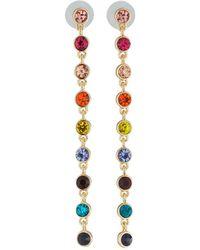 Kenneth Jay Lane - Linear Multicolor Crystal Earrings - Lyst