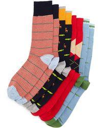 Neiman Marcus - Animal Four-pair Wardrobe Sock Set - Lyst