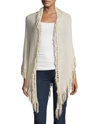 Minnie Rose | Fringed Cashmere Shawl | Lyst