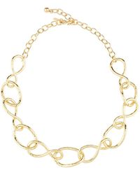 Kenneth Jay Lane - Twisted Open Link Necklace - Lyst