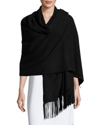Minnie Rose - Fringed Cashmere Wrap - Lyst
