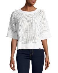 Todd And Duncan - Cashmere-blend Open-stitch Top - Lyst