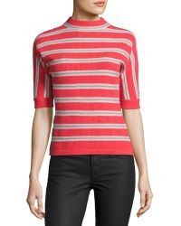 Todd And Duncan - Cashmere Striped Knit Top - Lyst