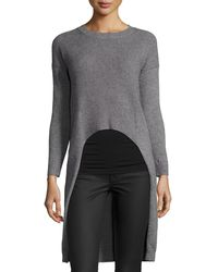 La Fee Verte - High-low Ribbed Sweater - Lyst