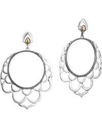 John Hardy - Naga 18k & Silver Lace Hoop Earrings - Lyst