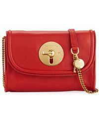 See By Chloé - Lois Long Front Flap Mini Leather Shoulder Bag - Lyst d9514e8a5188b