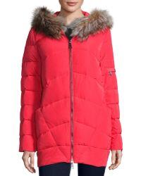 Annabelle New York - Kodiak Quilted Fox Fur Bomber Jacket - Lyst