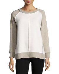 525 America - Inside-out Detail Sweatshirt - Lyst