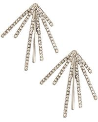 Lydell NYC - Crystal Burst Stud Earrings - Lyst
