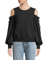 1.STATE - Cold-shoulder Long-sleeve Blouse - Lyst