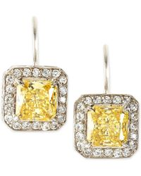 Fantasia by Deserio - Princess-cut Dangle & Drop Earrings Canary - Lyst