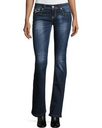 Grace In La | Embroidered Boot-cut Jeans | Lyst