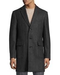 Luciano Barbera - Double-face Wool Topcoat - Lyst
