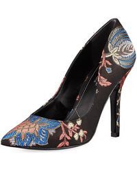 Charles David - Maxx Pointed-toe Floral Pumps - Lyst