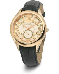 Alor - 38mm Valenti Watch W/ Diamonds & Leather Strap - Lyst