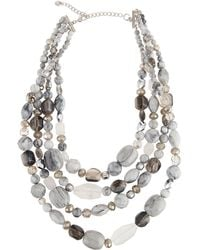 Lydell NYC - Multi-row Glass Beaded Necklace - Lyst