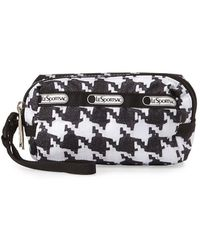 LeSportsac - Small Houndstooth Two-zip Wristlet - Lyst
