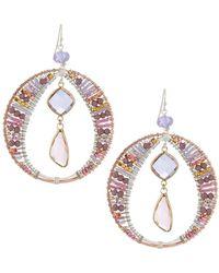 Nakamol - Crystal Hoop & Dangle Earrings - Lyst
