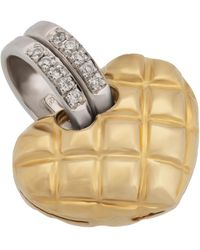 Chimento - 18k Gold Quilted Heart Pendant - Lyst