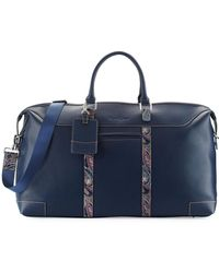 Robert Graham - Paisley Leather Weekender Bag - Lyst