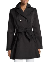 Laundry by Shelli Segal - Cotton-blend Fit-and-flare Trench Coat - Lyst