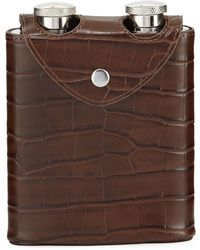 Neiman Marcus | Embossed Leatherette Double Flask | Lyst