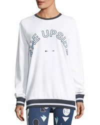 The Upside - Match-point Sid Crewneck Pullover Sweatshirt - Lyst