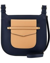 Neiman Marcus - Lake Como Two-tone Saddle Bag - Lyst
