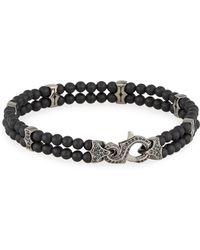Stephen Webster - Men's Thorn Black Onyx & Sapphire Beaded Bracelet - Lyst