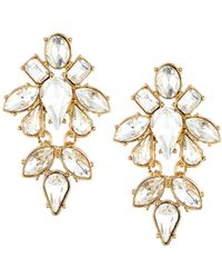 Lydell NYC - Crystal Chandelier Earrings - Lyst