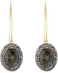 Native Gem - Ilume Labradorite & Crystal V-hook Drop Earrings - Lyst