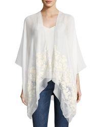 Raj - Floral Embroidered Kimono - Lyst