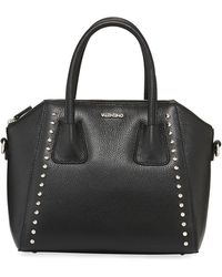 Valentino By Mario Valentino - Minimi Studded Preciosa Dollaro Leather Satchel Bag - Lyst