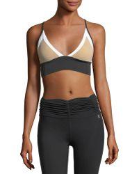 Body Language Sportswear - Taylor Top Colorblocked Performance Sports Bra - Lyst