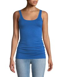 Three Dots - Long Fitted Jersey Tank - Lyst