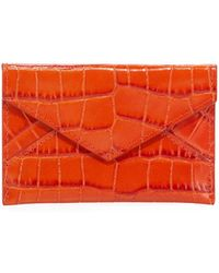 3c7c5d85e61c Graphic Image - Small Crocodile-embossed Leather Envelope Card Case - Lyst